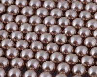 6mm SWAROVSKI® ELEMENTS Bronze Crystal Pearl Beads - 50 pearls for jewellery making, beadwork and craft